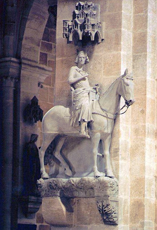 El jinete de la Catedral de Bamberg (Alemania)